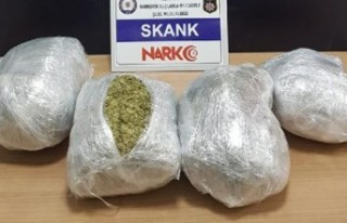 İzmir'de şüpheli araçtan 'skank'...