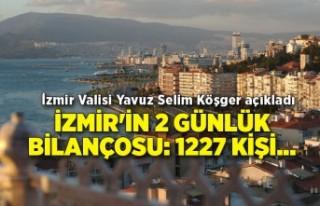 İzmir'in 2 günlük bilançosu: 1227 kişi...