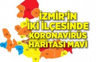 İzmir'in iki ilçesinde koronavirüs haritası...