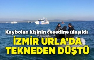 İzmir Urla'da tekneden düşüp, kaybolan kişinin...