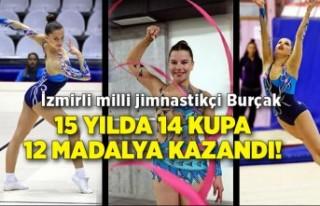 İzmirli milli jimnastikçi Burçak 15 yılda 14 kupa...