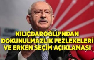 Kılıçdaroğlu'ndan dokunulmazlık fezlekeleri...