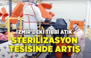 İzmir'deki tıbbi atık sterilizasyon tesisinde...