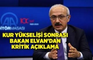 Kur yükselişi sonrası Bakan Elvan'dan kritik...