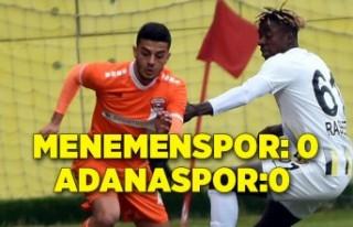 Menemenspor: 0 - Adanaspor: 0