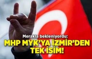 Merakla bekleniyordu: MHP MYK'ya İzmir'den tek...
