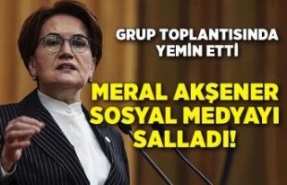 Meral Akşener'in yemini sosyal medyayı salladı