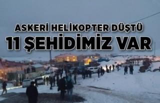 MSB: Askeri helikopter düştü: 11 şehit