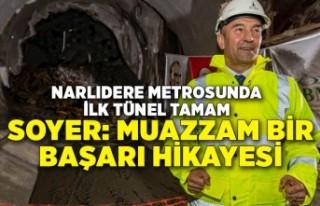 Narlıdere metrosunda ilk tünel tamam