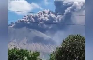 Nikaragua'daki San Cristobal yanardağı şehri...