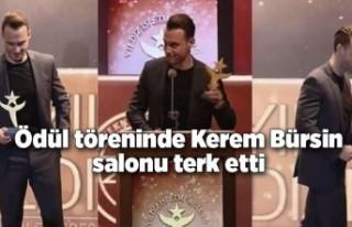Ödül töreninde Kerem Bürsin salonu terk etti