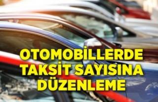 Otomobil satışlarında taksit sayısına düzenleme