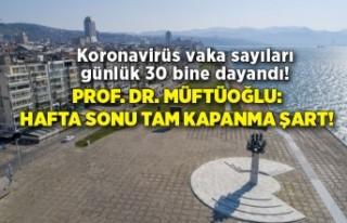 Prof. Dr. Müftüoğlu: Hafta sonu tam kapanma şart!
