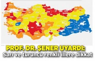 Prof. Dr. Şener uyardı: Sarı ve turuncu renkli...