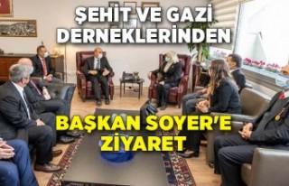 Şehit ve gazi derneklerinden Başkan Soyer'e...
