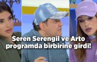 Seren Serengil ve Arto programda birbirine girdi!