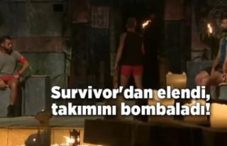 Survivor'dan elendi, takımıyla ilgili sert...