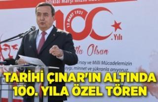 Tarihi Çınar'ın altında 100. yıla özel...