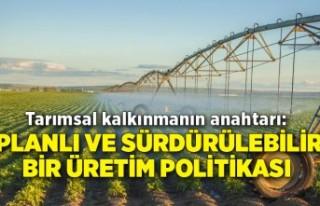 Tarımsal kalkınmanın anahtarı: Planlı ve sürdürülebilir...