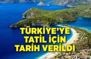 Turistlere Türkiye'ye tatil için tarih verildi