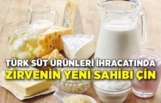 Türk süt ürünleri ihracatında zirvenin yeni sahibi...