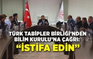 Türk Tabipler Birliği'nden Bilim Kurulu'na çağrı:...