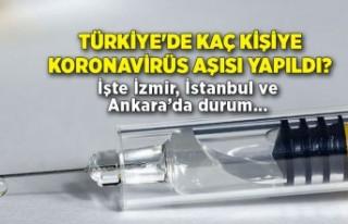 Türkiye'de kaç kişiye koronavirüs aşısı...