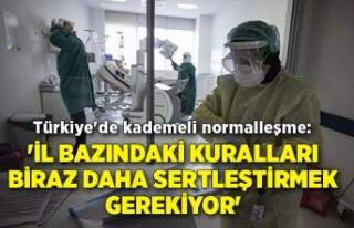 Türkiye'de kademeli normalleşme: 'İl...