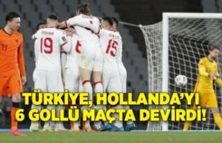 Türkiye, Hollanda'yı 6 gollü maçta devirdi!