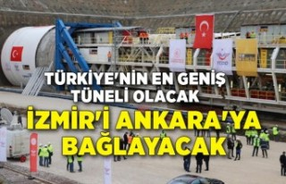 Türkiye'nin en geniş tüneli olacak