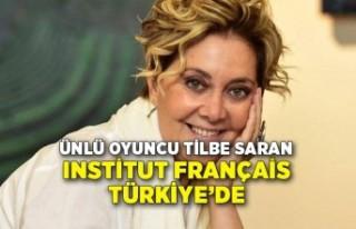 Ünlü oyuncu Tilbe Saran Institut français Türkiye'de