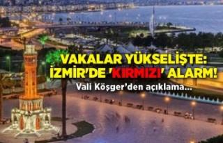 Vakalar yükselişte: İzmir'de 'kırmızı'...