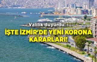 Valilik duyurdu: İşte İzmir'de yeni korona...