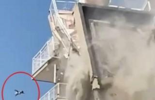 Yıkım sırasında çatıdan düşen kedi, hayati...