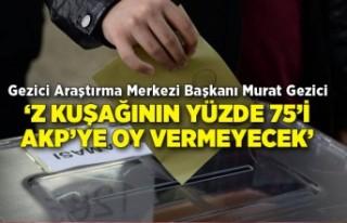 'Z kuşağının yüzde 75'i AKP'ye oy vermeyecek'