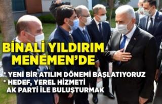 AK Parti Genel Başkanvekili Yıldırım, Menemen'de...