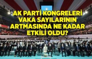 AK Parti kongreleri vaka sayılarının artmasında...