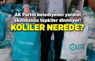 AK Partili belediyenin yardım skandalına tepkiler...