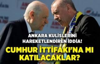Ankara kulislerini hareketlendiren iddia! Cumhur İttifakı'na...