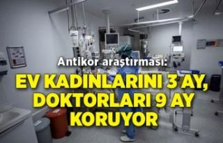 Antikor araştırması: Ev kadınlarını 3 ay, doktorları...