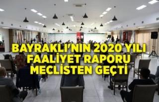 Bayraklı'nın 2020 yılı faaliyet raporu meclisten...