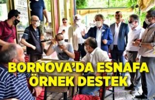 Bornova'da esnafa örnek destek