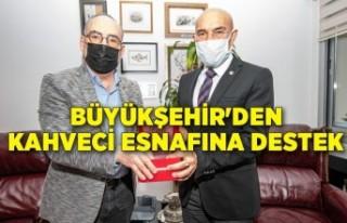 Büyükşehir'den kahveci esnafına destek