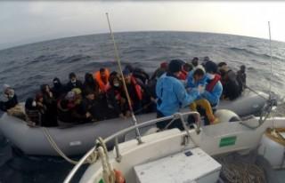 Çanakkale'de 54kaçak göçmen kurtarıldı