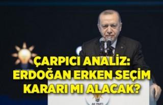 Çarpıcı analiz: Erdoğan erken seçim kararı mı...