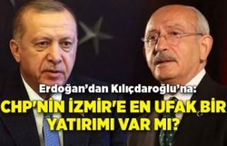 """""""CHP'nin İzmir'e en ufak bir yatırımı..."""