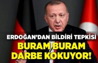 Cumhurbaşkanı Erdoğan'dan bildiri tepkisi