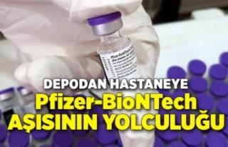 Depodan hastaneye Biontech aşısının yolculuğu