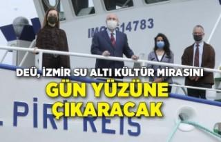 DEÜ, İzmir su altı kültür mirasını gün yüzüne...