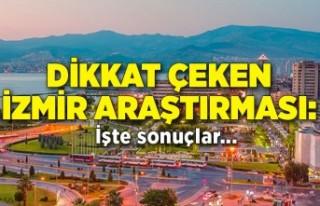 Dikkat çeken İzmir araştırması: İşte sonuçlar...